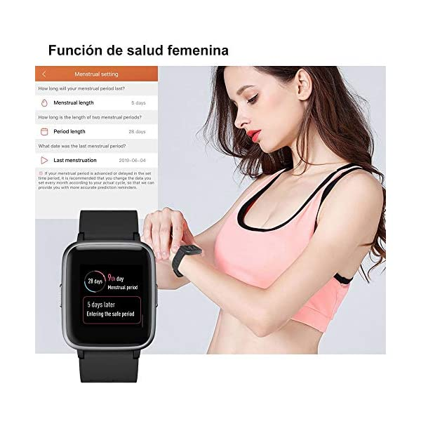 Willful Smartwatch Impermeable Reloj Inteligente con Pulsómetro, Pulsera Inteligente para Deporte con Cronómetro, Podómetro. Smartwatch Hombre Mujer Niños para Android iOS Xiaomi Huawei iPhone 7