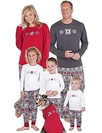K-youth Ropa de Casa Familia Invierno Conjunto de Pijamas Familiares Unisexo Pijamas de Navidad Familiares Ropa de Dormir Padre Hijo Manga Larga Tops y Pantalones Largos