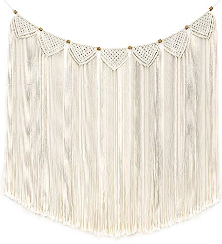 Mkouo Macrame Wall Hanging Tapestry Fringe Garland
