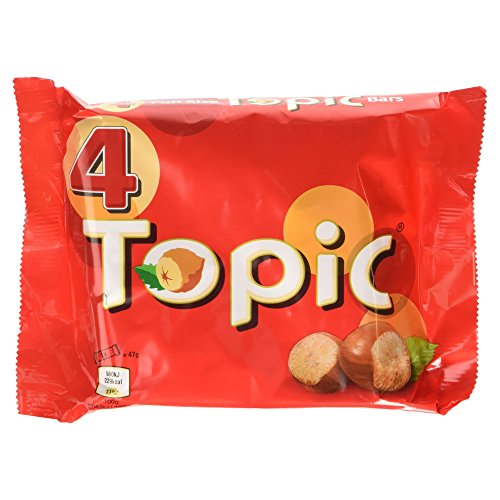 Topic Chocolate Bar, 188 g - Pack of 4
