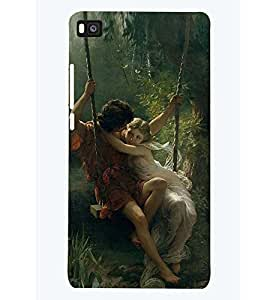 PRINTSWAG LOVE COUPLES Designer Back Cover Case for HUAWEI P8