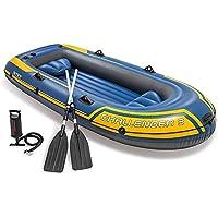YGSYSC Heavy Duty Pesca Aire Canoa del kajak Conjunto, Balsa Inflable Balsa Barco de 3 Persona, Incluyendo Kayak Inflable, Aluminio paletas, Bomba Inflable