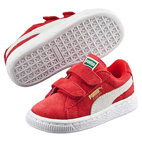 Puma Unisex-Kinder Suede 2 straps Inf Low-Top, Rot (high risk red-white 03), 26 EU