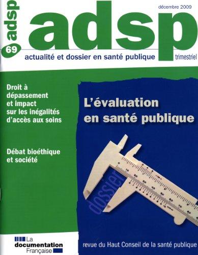 L'évaluation en santé publique (n.69)