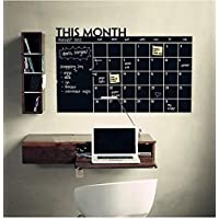 This Month Blackboard Wall stickers For Office Monthly calendar Wall Posters Mural