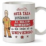 MUGFFINS Bombero Tazas Originales de café y Desayuno para Regalar a Trabajadores Profesionales...