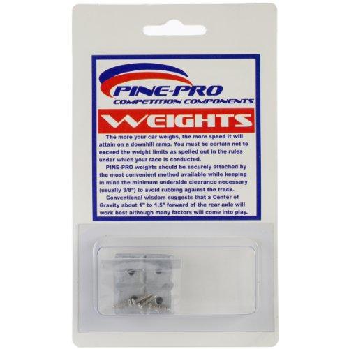 Pine-Pro pinepro 222092Kiefer Auto Derby Gewichte, Mehrfarbig, 2oz, 8Stück - Kiefer Derby Gewichte