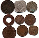 #7: 12 Different British India coins 2anna ,1 anna ,1/2 anna ,hole pice,-4 coins,1/12 anna and more