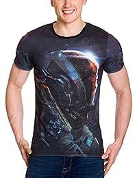 Mass Effect Men T-Shirt Andromeda Explorer Full Size Black