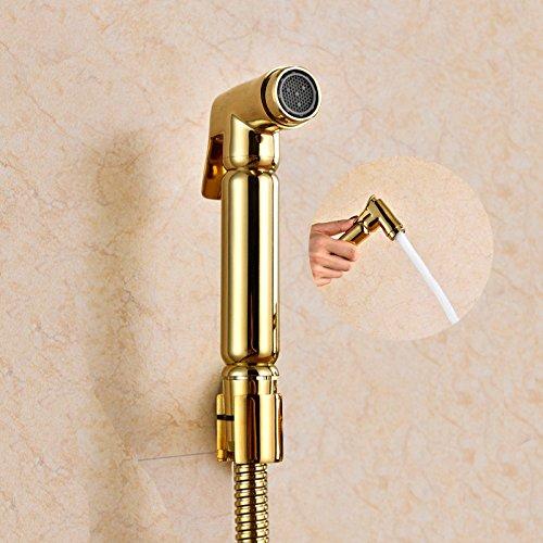 GFEI buse / toilettes / nettoyage pistolet pulvérisateur et européen titane bain moussant robinet golden femmes lavent