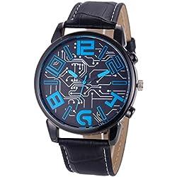 Fulltime(TM) Luxury Men's Faux Leather Strap Analog Quartz Sports Wrist Watch Watches