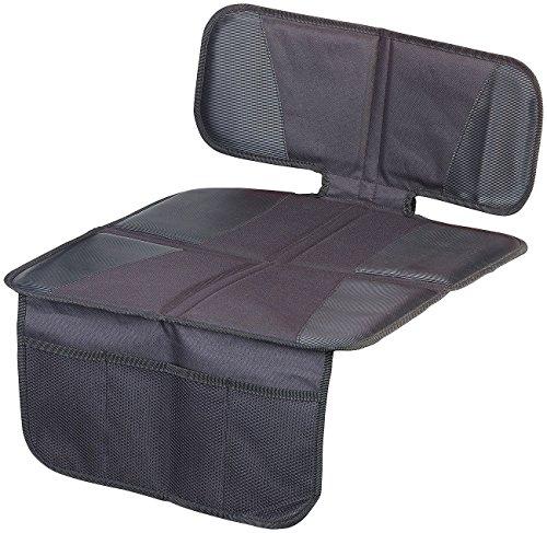"""Lescars Kindersitzunterlage: Kindersitz-Unterlage\""""Basic\"""" fürs Auto, 3 Netztaschen, Isofix-geeignet (Schutzunterlage)"""