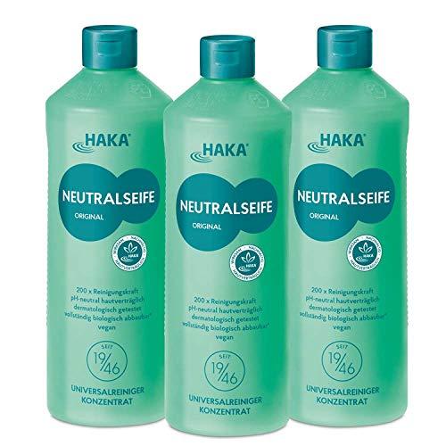 HAKA Neutralseife Pastös I Neutralreiniger I Universalreiniger für Haushalt und Auto I PH-neutrales Reinigungsmittel I Biologisch abbaubar (3 x 1 kg)