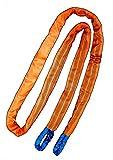 Desert Fox Winch Abschleppschlaufe Abschleppseil für LKW 40 t Traktor Baumaschinen Abschleppschlinge 5m Bruchlast 35 t Signalfarbe
