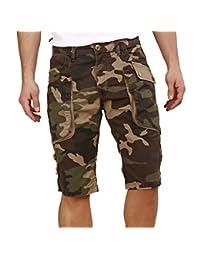 Red Bridge Herren Cargo Bermuda Shorts Camouflage Army Style M4827