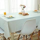 HM&DX PVC Kunststoff Tischdecken Wasserdicht Ölfreie Abwaschbar Schmutzabweisend Gitter Tisch-Abdeckung Esszimmer couchtisch Tuch abdecken-B Durchmesser 120cm(47inch)