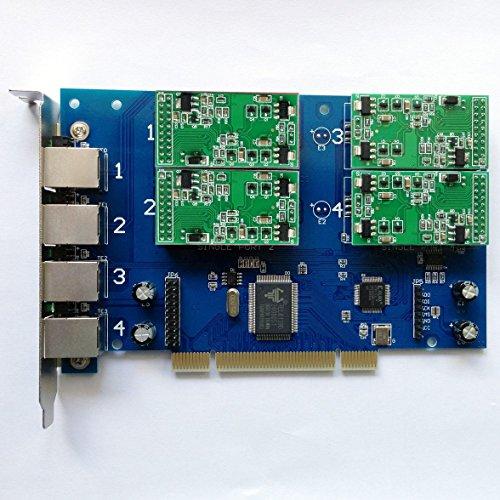 TDM410P mit 0FXO + 4FXS Ports, PCI Analog Karte, unterstützt Asterisk ELASTIX, freepbx TDM400P (Fxo-port)