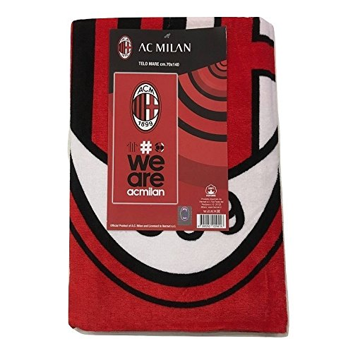 Milan 8934 272 2110 telo mare in spugna, 100% cotone, rosso/nero, 140x70x1 cm