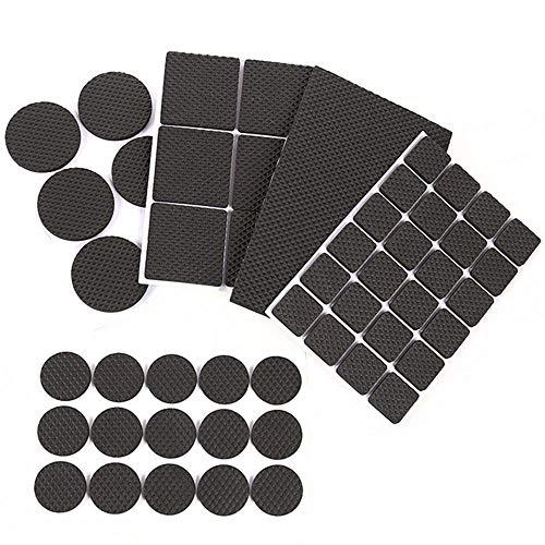 Möbel Filz selbstklebend Pads groß Pack 132PCS Stuhl Bein Bodenschoner schwarz beige Möbel Pads für Möbel Keep In Place & Möbel Pfropfen