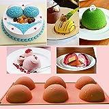 FantasyDay Premium Antiadherente Moldes para Tartas (Set de 2), Moldes de Silicona para Caramelos, Chocolate, Hornear, Tarta, Galletas, Jabón, Hielo - Apto para Lavavajillas Y Microondas - Hemisferio