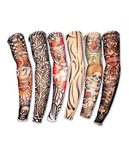 Devil Sun and Dust Protection Arm Printed Tattoo Sleeves for Men|Women (1 Pair)