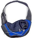 Hubulk Pet Dog Cat Puppy Carrier Mesh Travel Tote Shoulder Bag Sling Backpack (L, Blue)