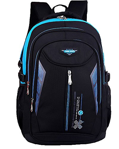 Impermeabile Scuola Borsa Casual Zaino Grande Capienza Backpack Rose Blu