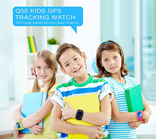 Kids Smartwatch GPS Tracker Anti Lost Wrist SIM SOS Call Voice Chat Phone Pedometer By Parent Control IOS Android Smartphone App Palmtalkhome Q50