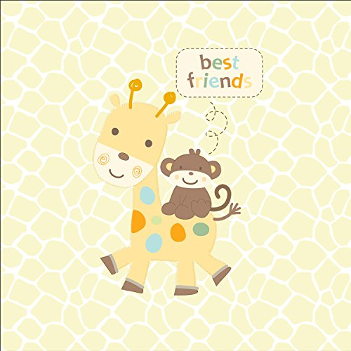 Summer Infant Pure Love SwaddleMe PUCKSACK - Joyful Giraffe (Gr. Small) Giraffe & Äffchen, gelb aus USA