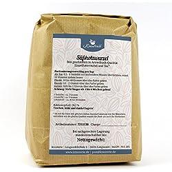 Süßholzwurzel feingeschnitten in hochwertiger Qualität, frei von jeglichen Zusätzen, als Tee oder für Pferde, Hunde und Katzen (Glycyrrhiza glabra) – 1000 g