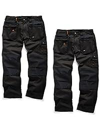 Scruffs Worker Plus Lot de 2Multi Poche Noir Pantalon de travail avec un stylo sans mad4tools