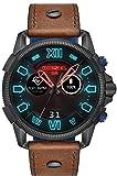 Diesel Herren Digital Smart Watch Armbanduhr mit Leder Armband DZT2009