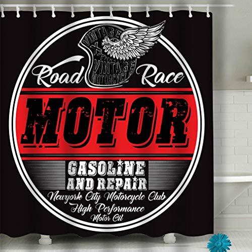 BAOLANZHANG Shower Curtain Garage Repair Service Print Custom Colors Grunge Effect Fashion Style 60 * 72 inch
