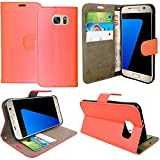 Gr8 value Luxury PU Leather Wallet Cover Flip book Phone Mobile Case For Samsung Galaxy S5 mini (plain red book)