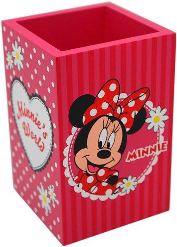 Disney 91011 - minnie portapenne in legno in confezione regalo, 7x7x11 cm