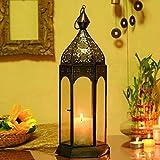#6: THE DIGITAL STORE World Moroccan Metalwork Hanging Candleholder Lantern Best Gifts