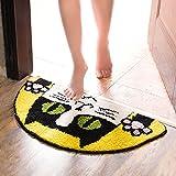 Cartoon Halbkreis Katze Kopf Matten Fußmatte Bett Sideboard Bad Wasseraufnahme rutschfeste Matte Küche Wohnzimmer Fußmatten