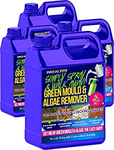Pro-Kleen 5 Litres - Simply Spray & Walk Away Concentrate Patio - Fencing - Decking - Mould Algae & Moss Killer (20L Simply Spray)