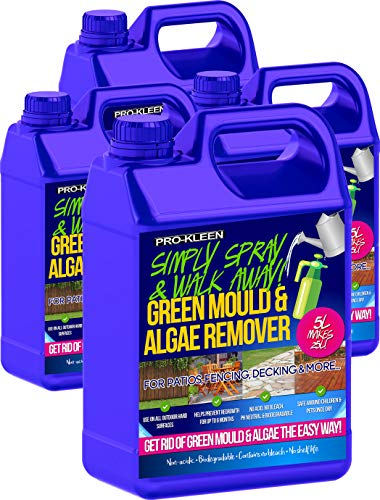 Pro-Kleen Simply Spray & Walk Away Concentrate Patio - Fencing - Decking - Green Mould and Algae Killer (20L Simply Spray)