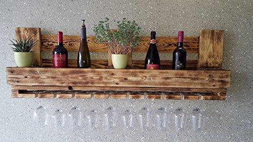 daves redesign Weinregal Vintage Flaschenregal Wandbar Palettenregal Palettenmöbel Bar Shabby