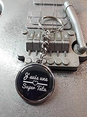 Porte clé J'suis une super Tata