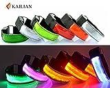 Kailian ® LED Armbänder Fahrradlampe Reflective Armband Wristband Blinklicht joggen Außen Schulweg Erwachsener Nacht Sicherheits Licht Reflektor Hundehalsband-Blau