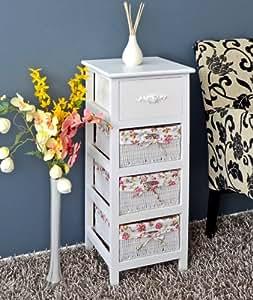 landhaus antik kommode schrank badregal weiss. Black Bedroom Furniture Sets. Home Design Ideas