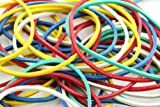 Assorted Colours Rubber Bands - Approx 250 Bands