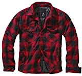 Brandit Lumberjacket Jacke schwarz/rot XXL