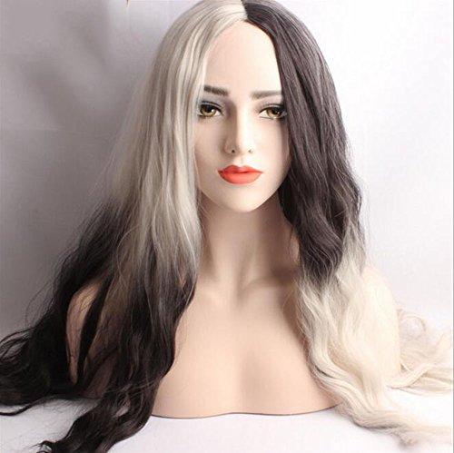 Perücke, Farbe Gemischt Lange, wellige Natürliches Haar Zum Halloween Weihnachtsfeier Kostüm (Heißer Teenager Halloween Kostüme)