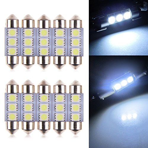 neuftech 10x 36mm 3 5050 smd kfz led soffitte. Black Bedroom Furniture Sets. Home Design Ideas