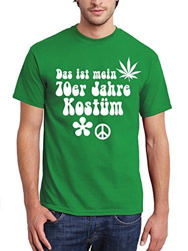 irt Karneval Das ist mein 70er Jahre Kostüm Grün Größe S (70er Jahre T Shirts)