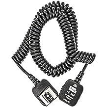 Impulsfoto - Cable I-TTL para flash de cámara Nikon (3,6 m, compatible con modelos D7100, D7000, D5300, D5200, D5100, D5000, D3200, D3100, D3000, D800, D700, D610, D600, D300s, D300, D200, D100, D90, D80, D70, D60, D50, D40, D3 Serie, D2 Serie, D1 Serie, N90s, F5, F6, F100, F90, F90X, similar a SC-28/SC-29)