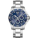 Longines Hydroconquest-l3.744.4.96.6-Divers automatico cronografo blu da uomo